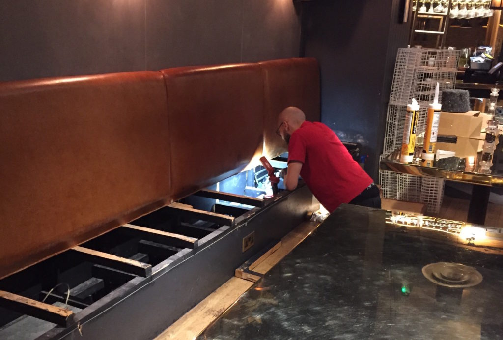 Restaurant mouse proofing